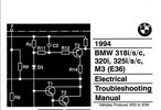 Thumbnail BMW 318i/s/c, 320i, 325i/s ELECTRICAL TROUBLESHOOTING MANUAL